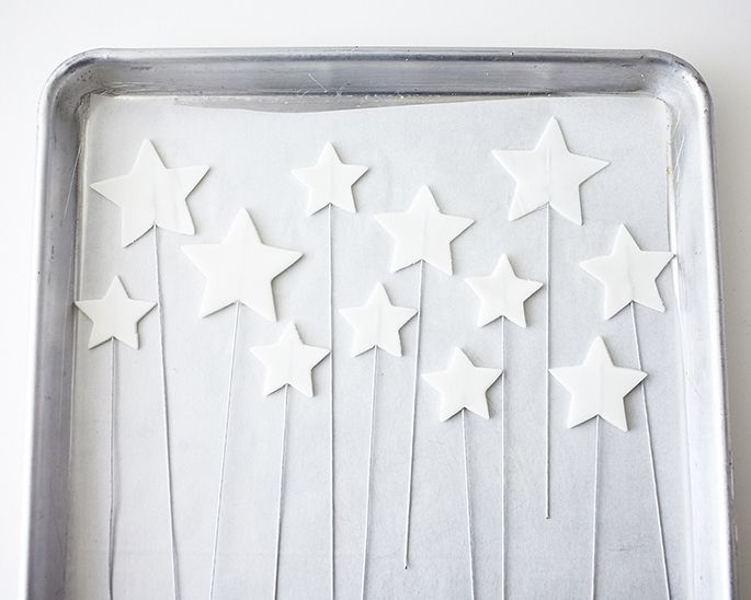 How to Make Sparkly Bouncy Stars Cake Topper