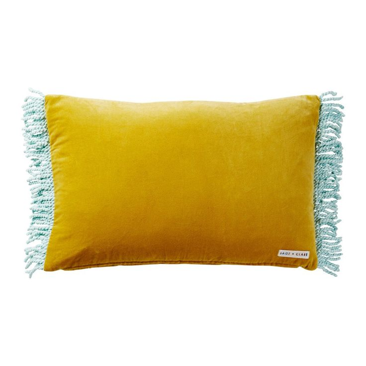 Quilted Velvet Cushion with Paisley Embroidered Motif and Corded Fringe