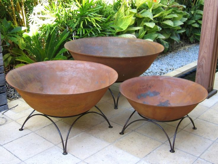 African Cast Iron Fire Pit or Planter Bowl | The Block Shop