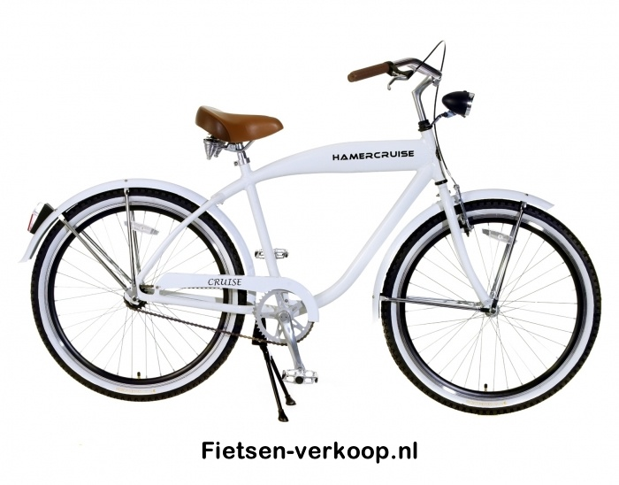 Jongensfiets Hamercruise Cruise Wit 26 inch   bestel gemakkelijk online op Fietsen-verkoop.nl