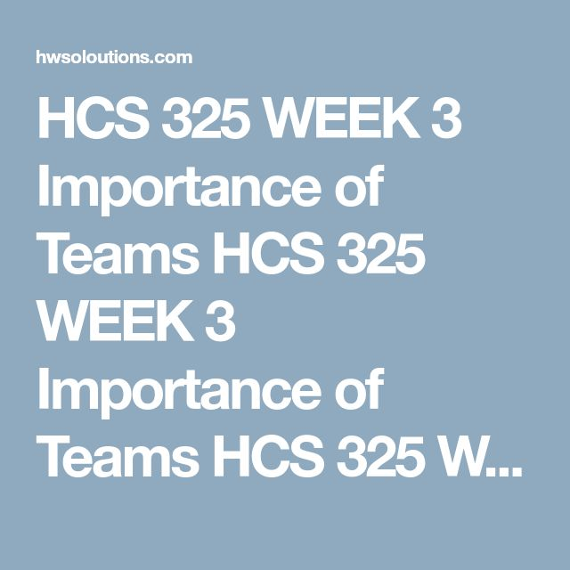 HCS 325 WEEK 3 Importance of Teams HCS 325 WEEK 3 Importance of Teams HCS 325 WEEK 3 Importance of Teams Resources: The five-step planning process covered in the course and the Sample Business Proposal example  Consider the following scenario:  As the manager of a busy call center for a health care organization, you note that the volume of calls has doubled over the past year. Although you do not have the budget to hire additional staff, you do have an additional $20,000 to spend on your…