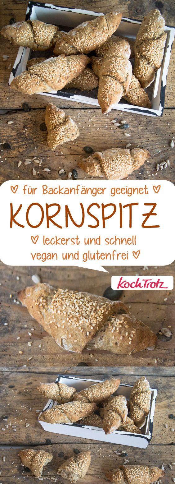 Kornspitz | tolle Frühstücksbrötchen | schnell und einfach | glutenfrei | vegan #brötchen #kornspitz #glutenfrei #vegan