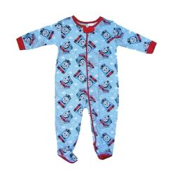 "Licensed Thomas & Friends ""Toot Toot"" footed onesie.  Sizes 0000, 000, 00 & 0."