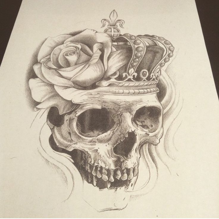 Skull rose crown