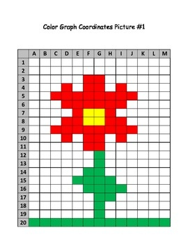 FREE - Spring flower mystery picture graph