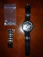 Casio Edifice Men's Wristwatch EQB-510 lightly used leather and metal bands
