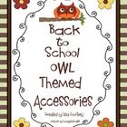 There are 37 pages of OWL themed accessories to begin the school year, with several items that may be used anytime during the year.  Items include ...