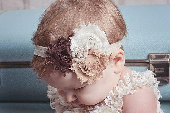 Archetto bambino marrone avorio Shabby di BabyBloomzBoutique