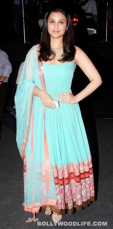#ParineetiChopra in Manish Malhotra   Love the Tiffany blue