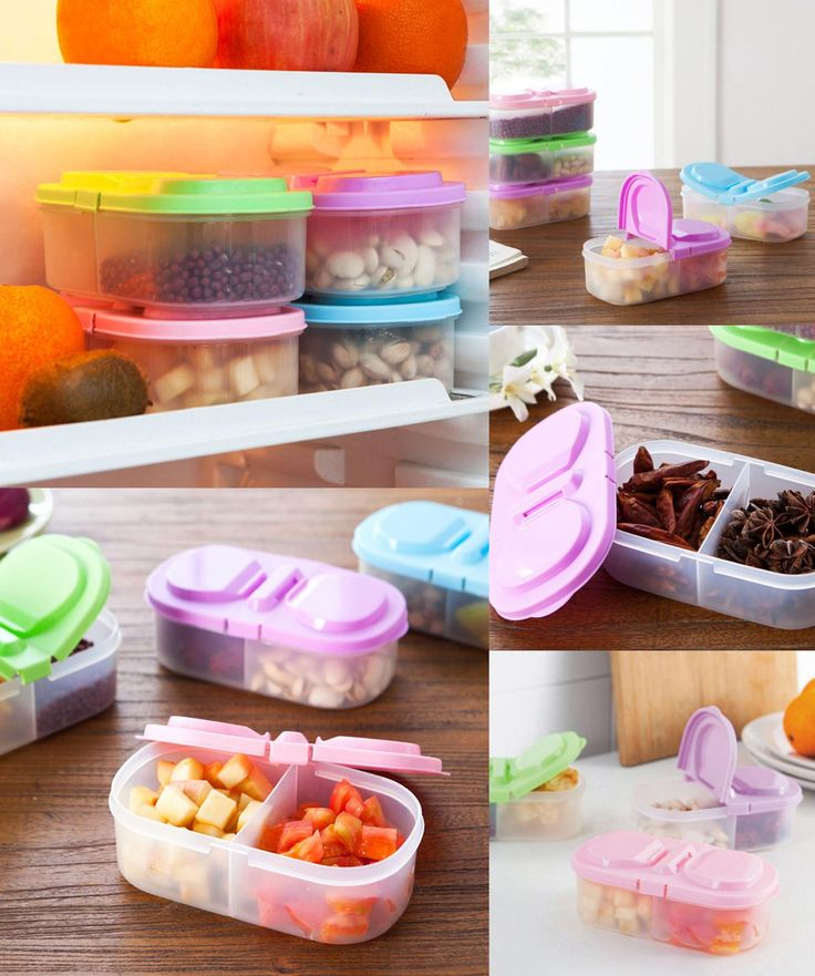 [Visit to Buy] Refrigerator Storage Box New Kitchen Accessories Portable Lunch Bento Box Food Container Space-saving Can refrigerator organizer #Advertisement
