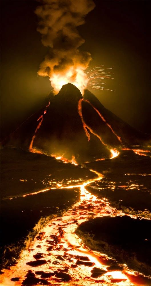 Volcano eruption in Iceland or Hawaii