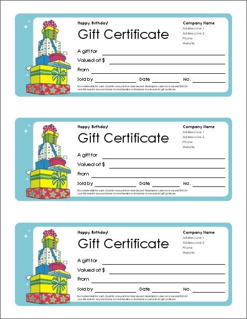 download a free printable gift certificate template for word and a