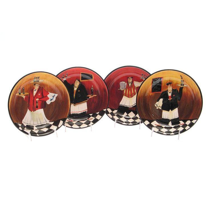 Certified International Bistro 4-pc. Pasta Bowl Set, Multicolor
