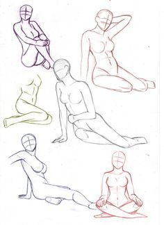 drawing sitting poses | Female sitting poses by ~aliceazzo on deviantART