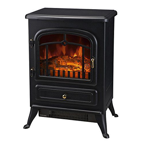 Homcom Freestanding Wall Mounted Electric Fireplace Heater View Wood Burning Effect Flame Tem Wood Stove Fireplace Electric Fireplace Heater Electric Fireplace