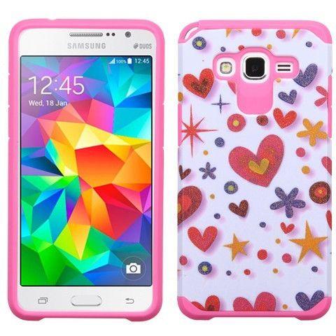 MYBAT Samsung Galaxy Grand Prime Neo Astronoot Case - Heart Graffiti