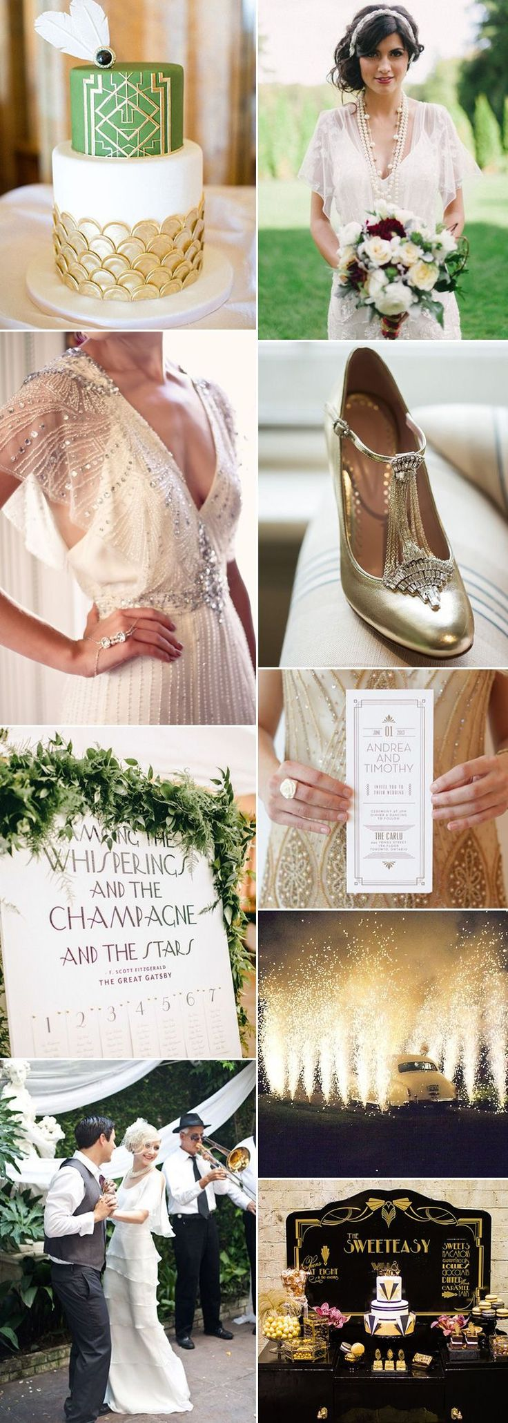 Gatsby wedding glamour on GS Inspiration - Glitzy Secrets                                                                                                                                                                                 More