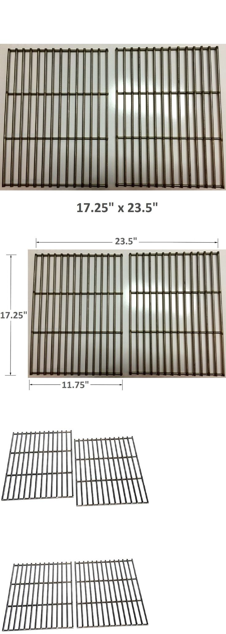 BBQ Tools and Accessories 20725: Gas Grill 2Pc Bbq Grates Stainless Steel Rods Weber Genesis Spirit 700 Part 7527 -> BUY IT NOW ONLY: $68.98 on eBay!