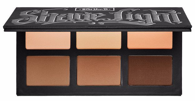 Kat Von D Shade + Light Face Contour Palette = looks great on pale skin