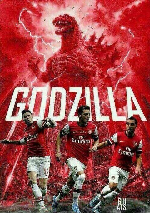 Not sure who did this, but I love it....Arsenal's Godzilla