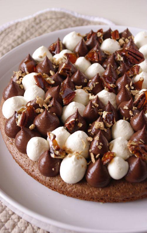 Tarte chocolat, noix de pécan et sirop d'érable : inspiration Fantastik ! | I Love Cakes