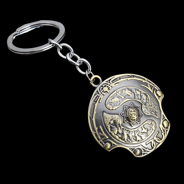Game Dota 2 Storm Spirit Red Mist Shield Butterfly Key Finder KeyChain Keyring Personalized Jewelry