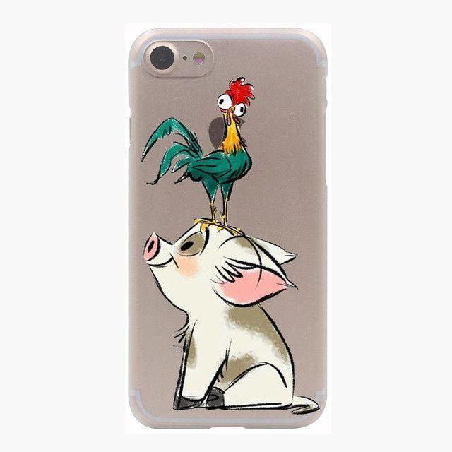 Transparent Moana Cartoon Case for iPhone 7 7 Plus 6 6S Plus 5 5S SE 5C 4 4S #iphone7case,
