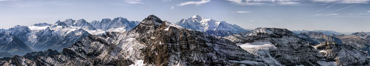 Alpen-Panoramen - Panorama: Verfrühter Wintereinbruch
