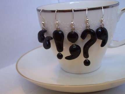 Punctuation Accessories: Celebrate National Punctuation Day With Grammar-Loving Earrings