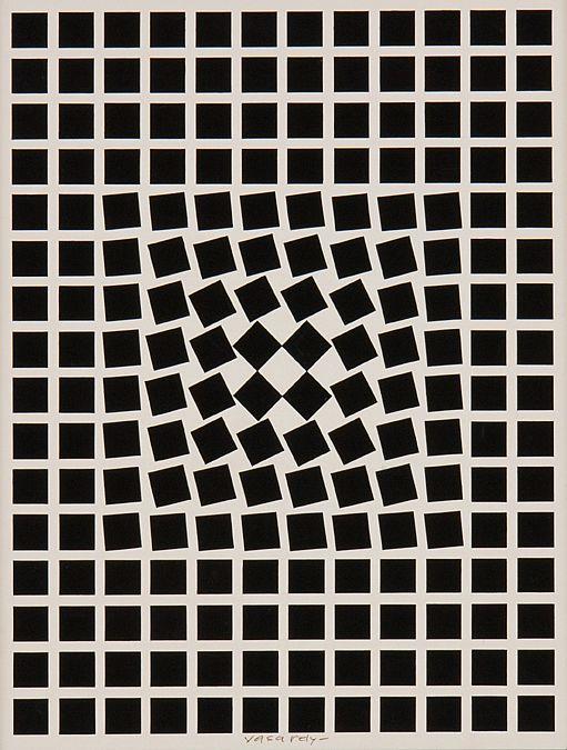 œuvres cinétiques du plasticien hongrois Victor Vasarely