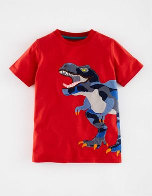 Big Appliqué T-shirt 21771 Logo T-Shirts at Boden
