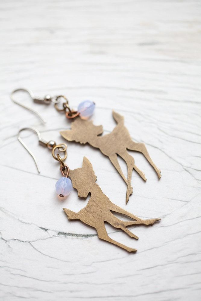 Bambi earrings: Diy Jewelry Ears, Fashion Shoes, Fashion Models, Jewellery Accessories, Girl Fashion, Earrings Mi, Christmas Ornaments, Deer, Bambi Earrings So