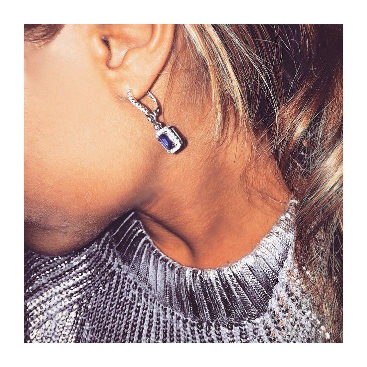 #Mirimal sapphire diamond earring