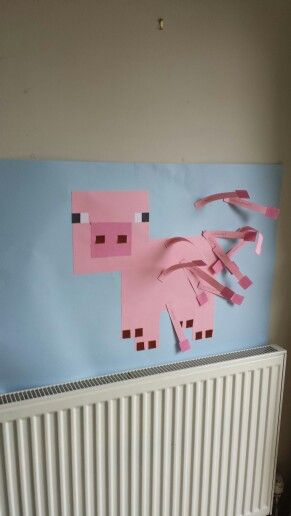 Pin the tail on the minecraft pig!