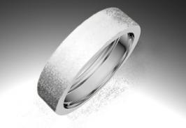 Alianza de oro blanco de 18K modelo Rec vacia minimal - Alianzas de oro - Clemente Navarro by LK #alianzas, #anillosdeboda, #boda, #novias www.cnavarro.com