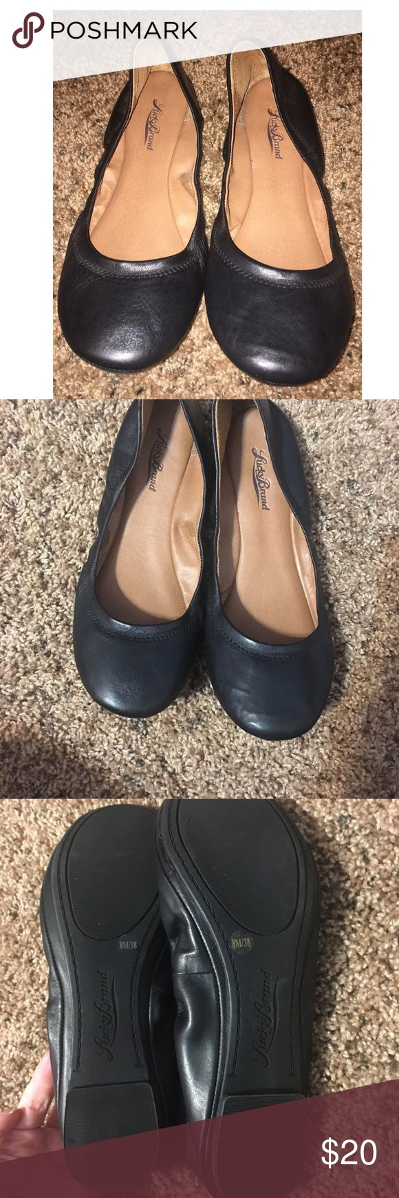 Black Lucky Brand Flats sz 8 These are in great condition! I have only worn them once for graduation. They are super comfy and lightweight! Lucky Brand Shoes Flats & Loafers