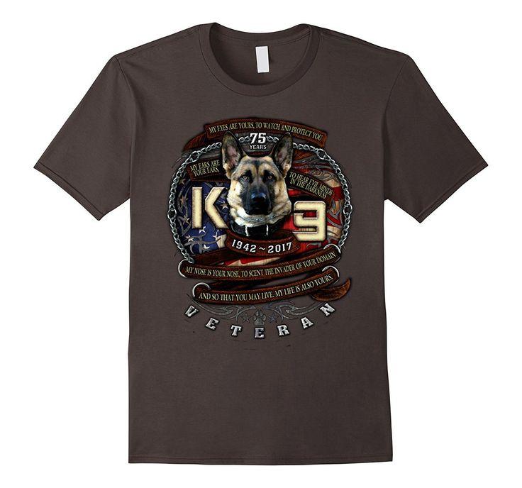 K-9 Veteran 75th Anniversary Military Tshirt