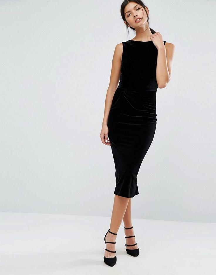 Image 4 ofY.A.S Daisy Velvet Midi Dress