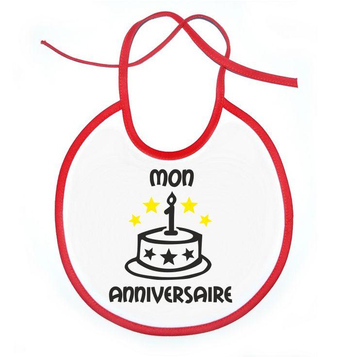 Bavoir bébé à personnaliser : mon 1˚ anniversaire