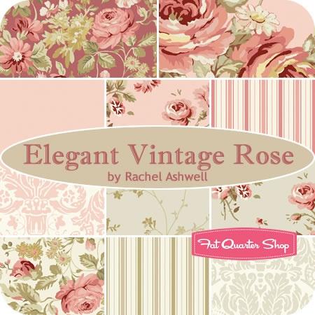 Elegant Vintage Rose Fat Quarter Bundle Rachel Ashwell for Treasures by Shabby Chic Fabric - Fat Quarter Shop