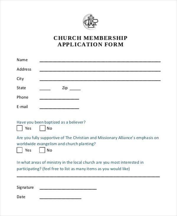 Membership Form For Church Ten Things You Need To Know About Membership Form For Church Toda Application Form Membership Card Card Template