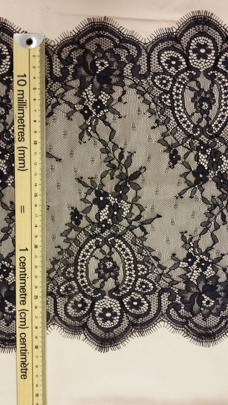 Black lace Trim by the yard French Lace Chantilly by LaceToLove