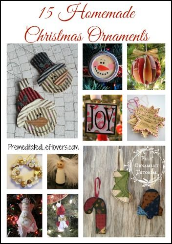 15 Homemade Christmas Ornaments