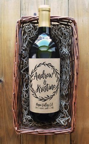 Wedding Wine Bottle Labels                                                                                                                                                                                 More