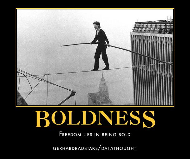 Freedom lies in being bold - Gerhard Radstake