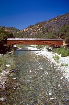 South Yuba River State Park in Nevada County, California consists of the 22-mile long South Yuba River Canyon running from near Edwards Crossing to Bridgeport and contains some 2,000 acres.  The park is noted for its historical gold mining connections and for the number of 19th century crossing bridges built along the length of the river.  The area includes the longest single-span covered bridge in the world.