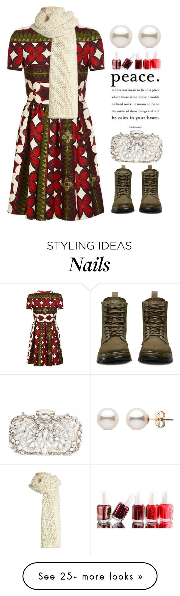 """~Cheer~"" by amethyst0818 on Polyvore featuring Valentino, Dr. Martens, Natasha Couture, I Love Mr. Mittens and Essie"
