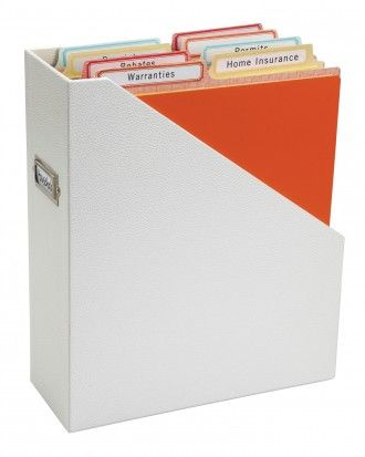 Like the idea of using dividers in a magazine/file organizer.