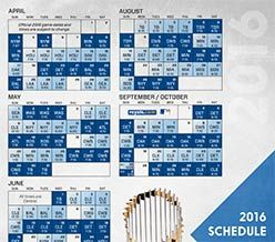 KC Royals Schedule 2016