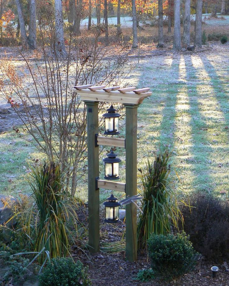 Just a Pic: This would be cute with solar lanterns at the top of our drive. - Sequin Gardens